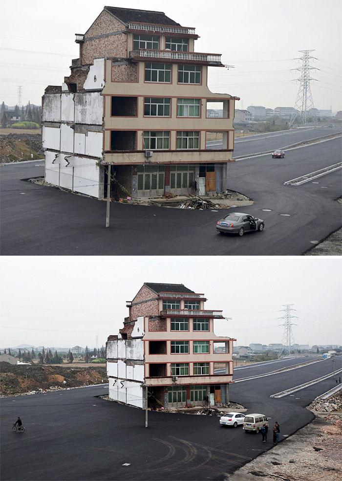 中國政府為這些頑固的房主鋪平了道路。 居民最終搬出,但房子已經成為抵制開發商的象徵